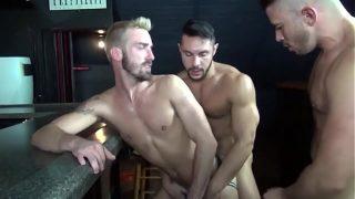 threesome gay at bar